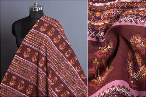 Jahota Hand Block Printed Natural Dyed Pure Cotton Fabric