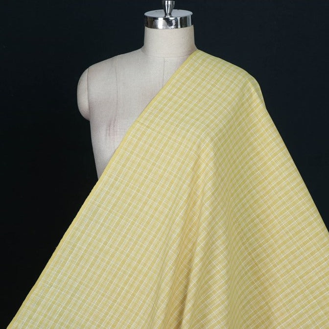 Kora : Anar Yellow - Malkha Pure Handloom Cotton Natural Dyed Fabric