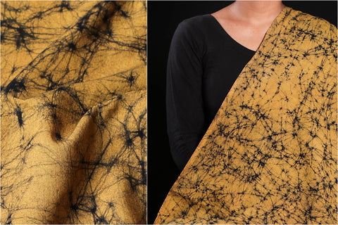 Hand Batik Printed Cotton Fabric with Cracking Effect by Wasim