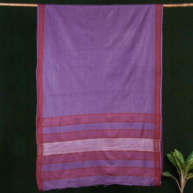 Traditional Vidarbha Pure Tussar Silk Cotton Handloom Saree with Woven Border