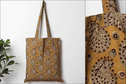 Kalamkari Pedana Block Printed Natural Dyed Cotton Shopping Bag