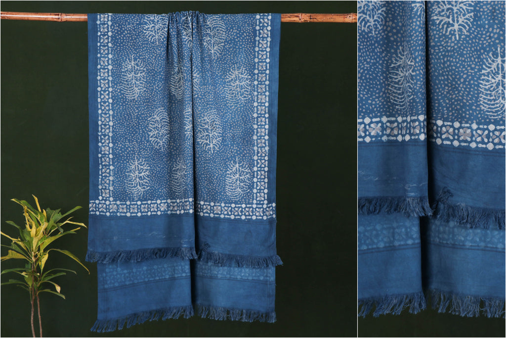 Akola Hand Block Print Pure Handloom Cotton Towel