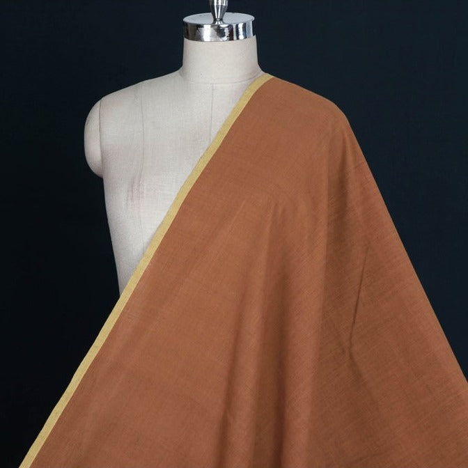 Katha Brown - Malkha Pure Handloom Cotton Natural Dyed Fabric