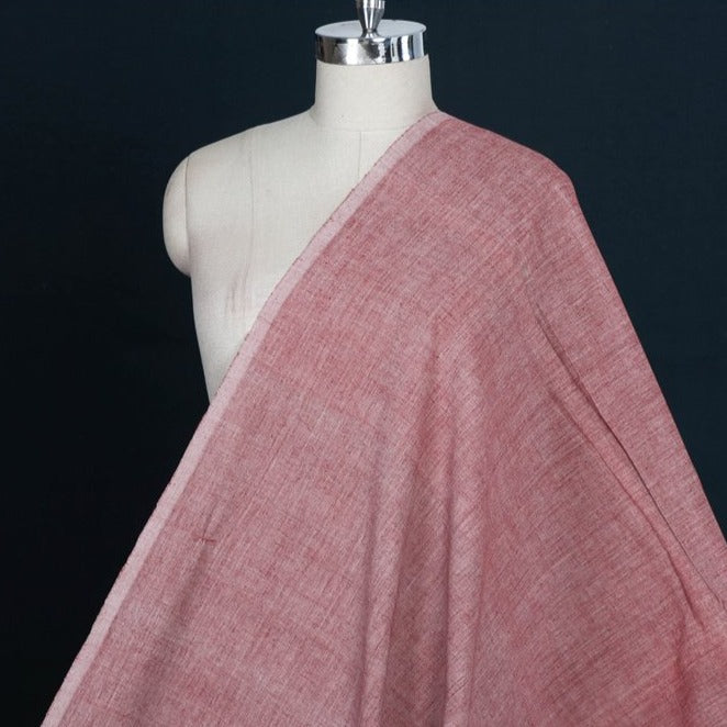 Kora : Alizarin Red - Malkha Pure Handloom Cotton Natural Dyed Fabric