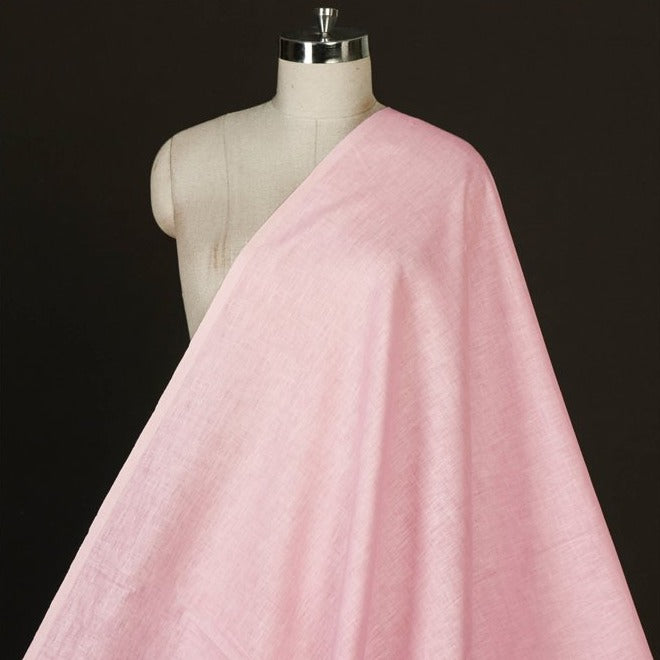 Soft Pink - Handwoven Pure Linen Fabric from Bhagalpur
