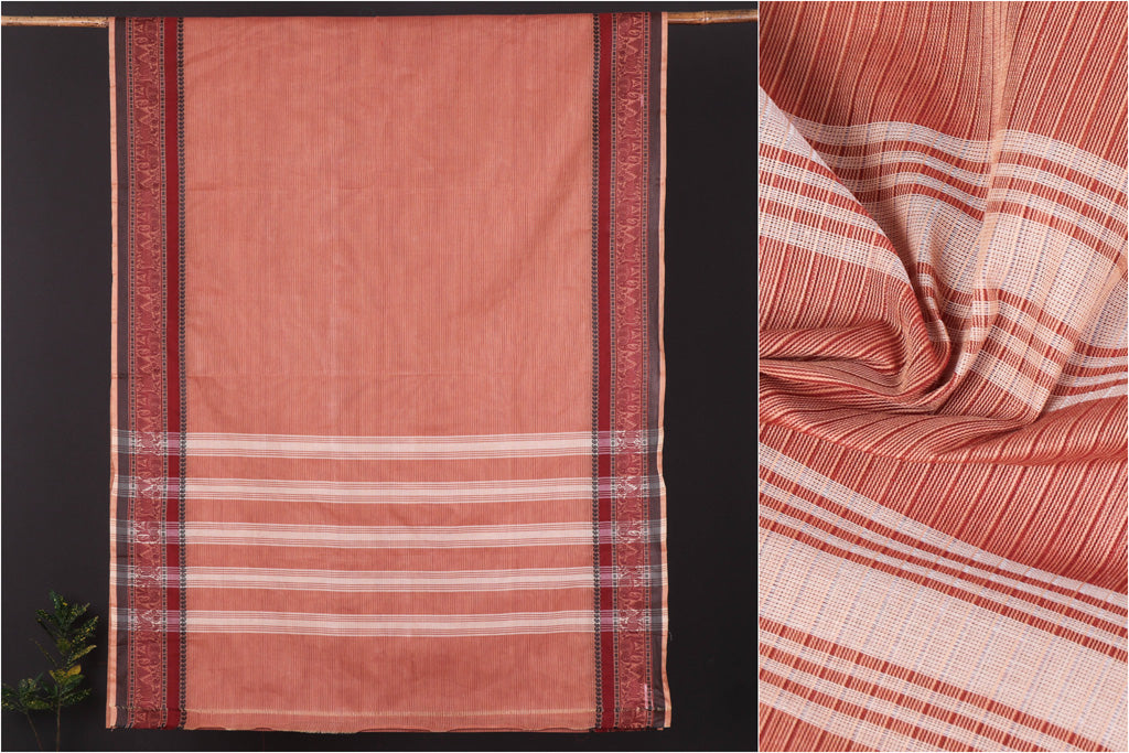 Traditional Kanchipuram Pure Cotton Saree from Tamil Nadu