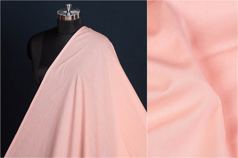 Light Coral - Pre Washed Plain Pure Cotton Fabric (Width - 44in)