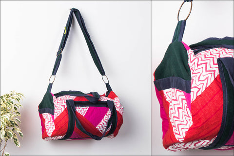 Patchwork Dholak Bag by Jugaad