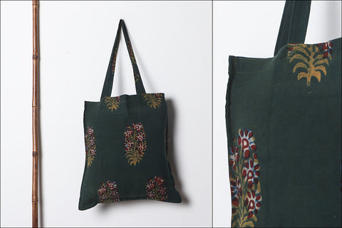 Handmade Cotton Fabric Printed Shopping Utility Jhola Bag