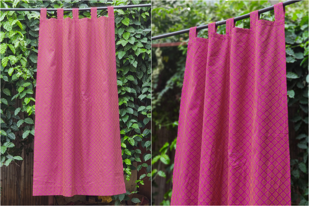 Jacquard Pure Cotton Fabric Window Curtain (150 x 105 cm)