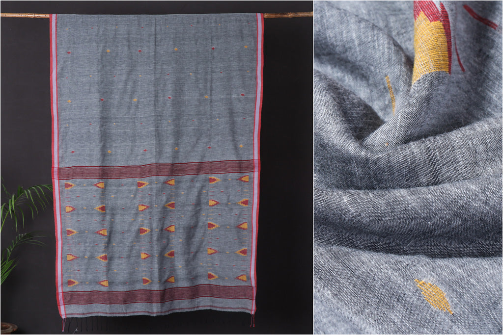 Bengal Jamdani Buti Handloom Pure Cotton Saree
