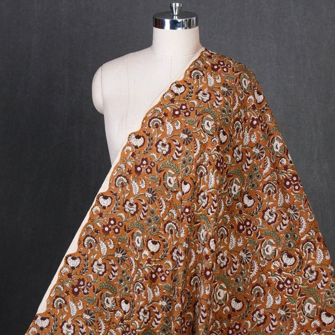 Bagru Kalamkari Hand Block Printed Pure Cotton Natural Dyed Fabric
