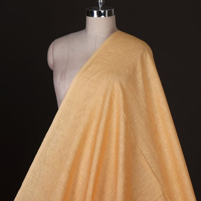 Peach - Handwoven Pure Linen Fabric from Bhagalpur
