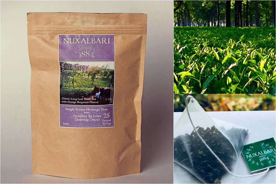 Nuxalbari Tea Company - Earl Grey 25 Pyramid Tea Bags