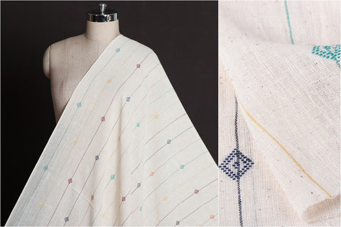 Organic Kala Cotton Pure Handloom Line Buti Fabric