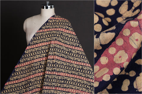 Hand Batik Print Pure Cotton Fabric from Kutch