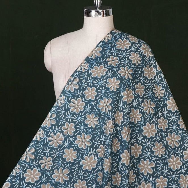 Traditional Pipad Hand Block Printed Pure Cotton Fabric