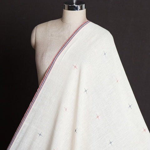 Organic Kala Cotton Pure Handloom Star Buti Fabric
