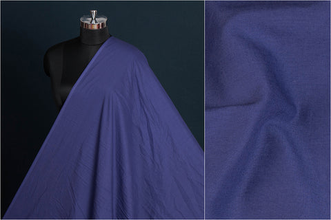 Dark Blue - Pre Washed Plain Pure Cotton Fabric (Width - 44in)