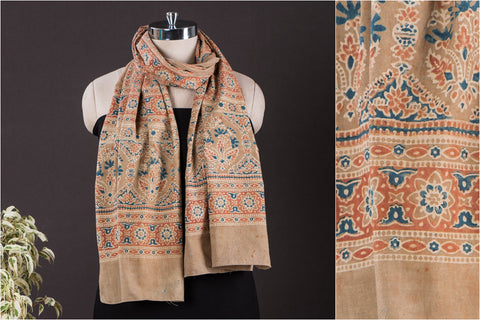 Barmer Ajrakh Block Printed Natural Dyed Cotton Stole