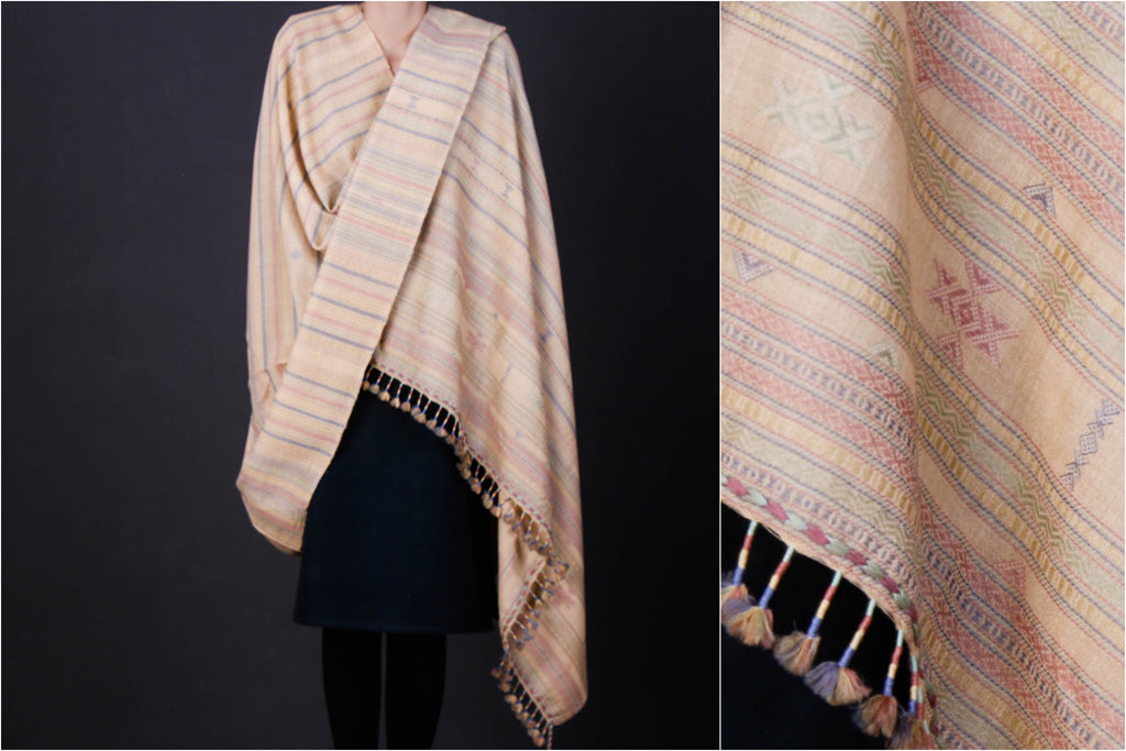Kutchi Traditional Embroidered Handwoven Fine Woolen Shawl