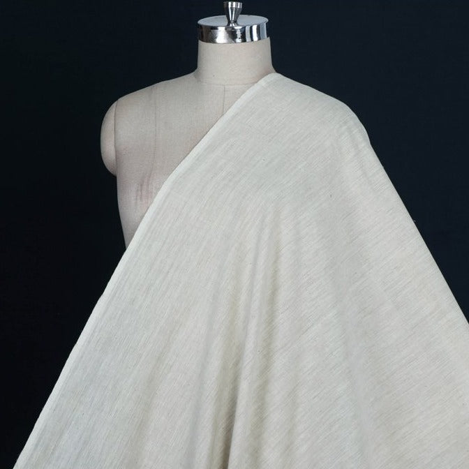 Off White - Malkha Pure Handloom Cotton Natural Dyed Fabric