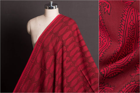 Bagh Hand Block Print Natural Dyed Cotton Fabric
