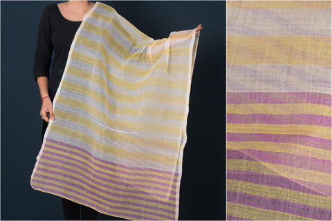 Traditional Manipuri Weave Handloom Cotton Dupatta