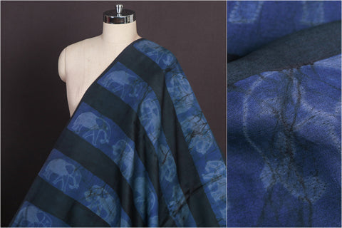 Nui Shibori Tie-Dye Pure Chanderi Silk Fabric