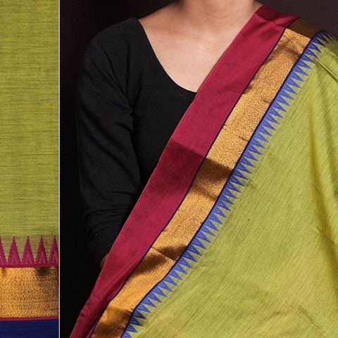 Dharwad Handloom Cotton Fabric with Woven Border