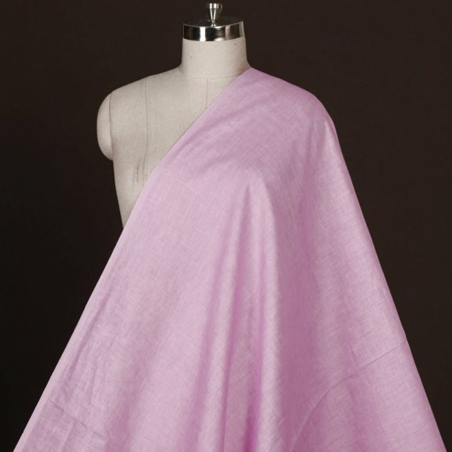 Lilac - Handwoven Pure Linen Fabric from Bhagalpur