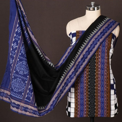 Special Sambalpuri Ikat 3pc Handwoven Cotton Suit Material Set