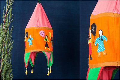 Pipli Applique Work Lampshade from Orissa