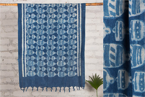Bindaas Block Art Prints Natural Dyed Cotton Towel