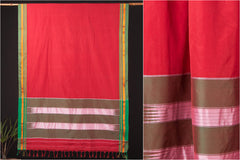 Ilkal Padar Cotton Silk Handwoven Saree With Zari Border