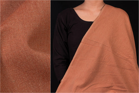 Brown - Jhiri Handloom Cotton Fabric (Width - 48in)