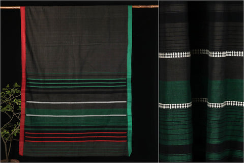 Begumpuri Handwoven Cotton Saree with Blouse from Bengal