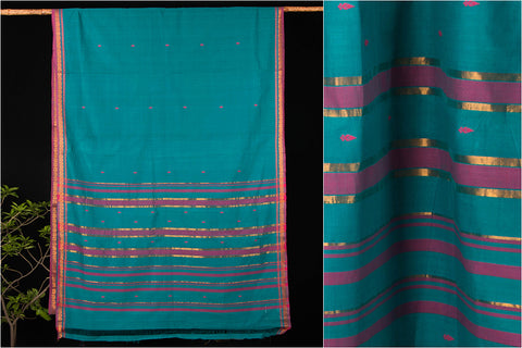 Godavari Kalasam Cotton zari Saree with Blouse by DAMA