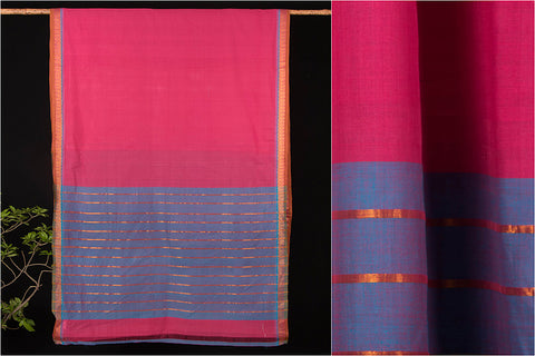Godavari Toranam Cotton Zari Saree with Blouse by DAMA