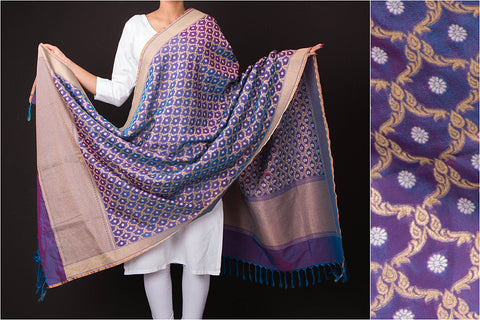 Traditional Pure Banarasi Handwoven Viscose Silk Zari Dupatta