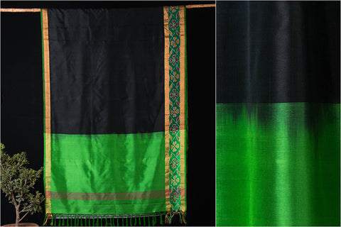 Uppada Pattu Handloom Pure Silk With Ikkat & Zari Border Saree