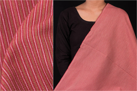 Indian Red - Jhiri Handloom Cotton Fabric (Width - 48in)