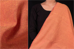 Orange Red - Jhiri Handloom Cotton Fabric (Width - 48in)
