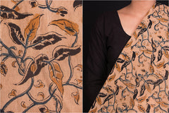 Dama Kalamkari Print Mangalgiri Washed Handloom Cotton Fabric