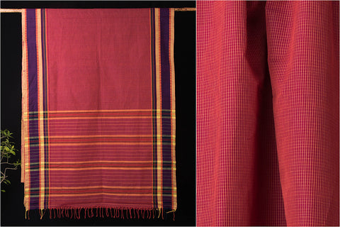 Narayanapath Handloom Cotton Saree with Temple Border