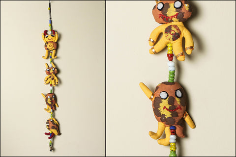 Handmade Monster Hanging with Bell