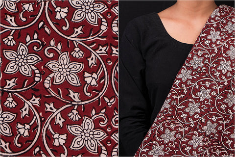 Bagh Gad Block Print Natural Dyed Cotton Fabric