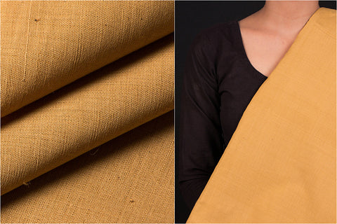 Dama Khadi Mangalgiri Natural Dyed Handloom Cotton Fabric