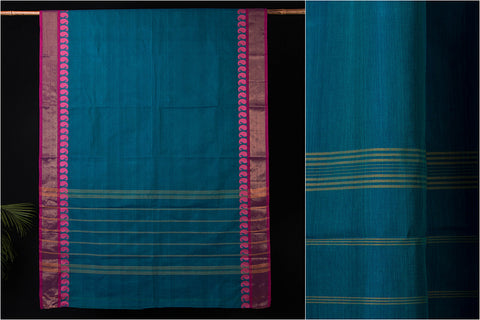 Kanchipuram Handloom Cotton Saree with Blouse
