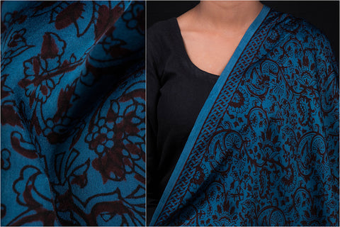 Special Modal Silk Bagh Gad Block Print Natural Dyed Fabric